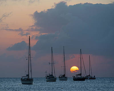 Photograph - Beautiful Gros Islet Sunset Castries Saint Lucia Caribbean by Toby McGuire