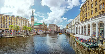 Photograph - Beautiful Hamburg City Center by JR Photography