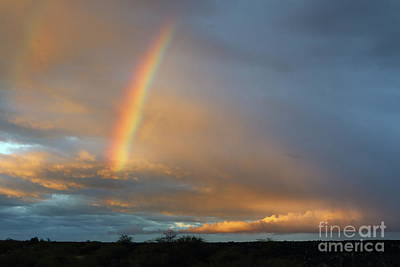 Photograph - Beautiful Hawaiian Sunrise Rainbow by Mary Haber
