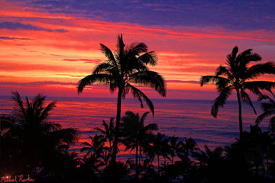 Photograph - Beautiful Hawaiian Sunset by Michael Rucker