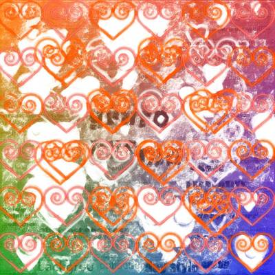 Burnt Digital Art - Beautiful Hearts In Layers by Tommytechno Sweden
