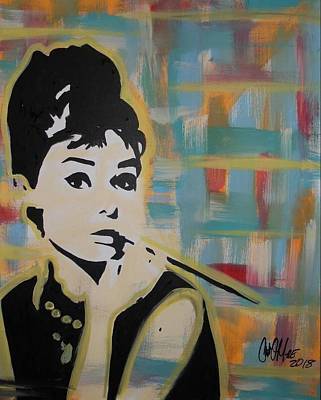 Painting - Beautiful Hepburn by Antonio Moore