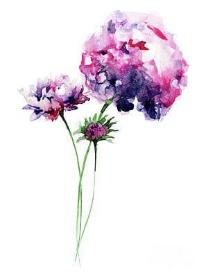 Painting - Beautiful Hydrangea Flower by Regina Jershova