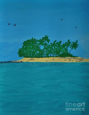Painting - Beautiful Island by D Hackett