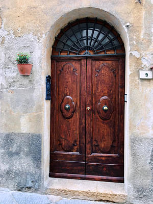 Photograph - Viaje Beautiful Italian Door Volterre  by Femina Photo Art By Maggie