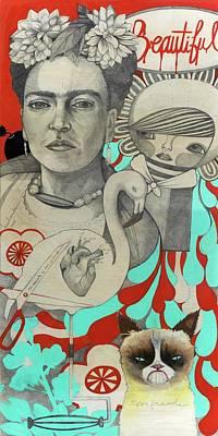 Frida Drawing - Beautiful  by Jennifer Kosharek