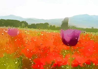 Bloom Painting - Beautiful June Flowers by Lanjee Chee