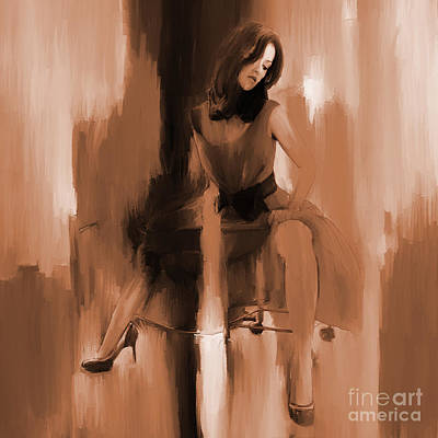 Passionate Painting - Beautiful Lady 01 by Gull G