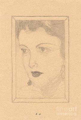 Beautiful Lady Face Art Print