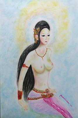 Painting - Beautiful Lady by Wanvisa Klawklean