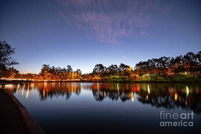 Photograph - Beautiful Lake In Springfield Lakes At Dusk. by Rob D