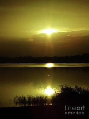 Photograph - Beautiful Lake Sunrise by D Hackett