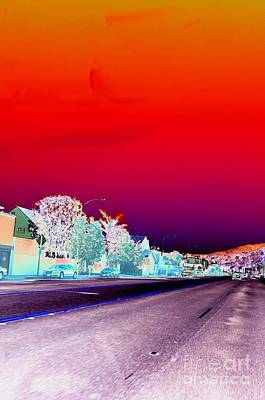 Digital Art - #beautiful #landscape #psychedelic #photography #malibu #california #fun #wild #crazy #freeway by Grace Divine