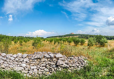 Medieval Photograph - Beautiful Landscape With Famous Castel Del Monte In Apulia, Italy by JR Photography