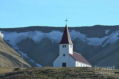 Photograph - Beautiful Look At Small Vik Chapel In Iceland by DejaVu Designs