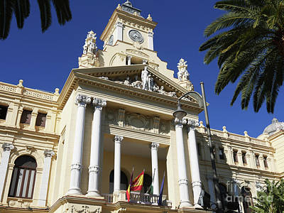 Photograph - Beautiful Malaga City Hall by Brenda Kean