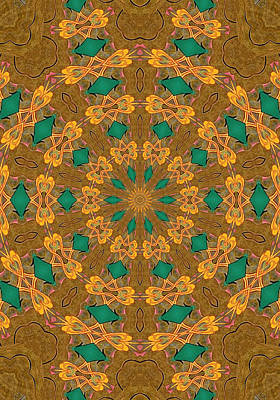 Closeup Painting - Beautiful Mandala 2 by Lanjee Chee