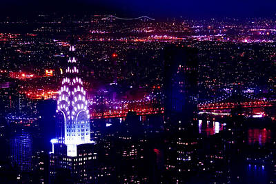 Chrysler Photograph - Beautiful Manhattan Skyline by Az Jackson