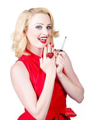 Beautiful Manicure Woman Wearing Red Nail Polish Art Print by Jorgo Photography - Wall Art Gallery