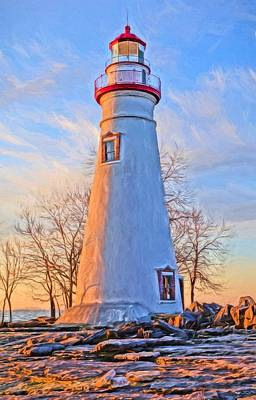 Great Mixed Media - Beautiful Marblehead Lighthouse by Dan Sproul