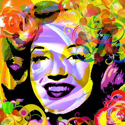 Sex Symbol Mixed Media - Beautiful Marilyn Monroe by Stacey Chiew