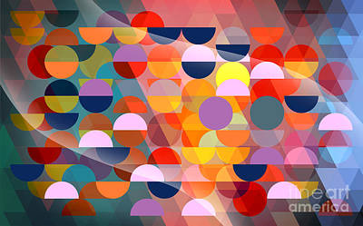 Abstract Pattern Painting - Beautiful by Mark Ashkenazi