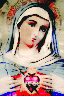 Mother Mary Digital Art - Beautiful Mary - Christian Contemporary #792  by Ella Kaye Dickey