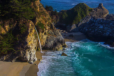 Of Big Sur Beach Photograph - Beautiful Mcway Falls by Garry Gay