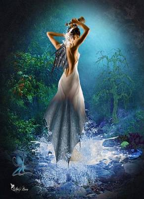 Digital Art - Beautiful Mermaid by Ali Oppy