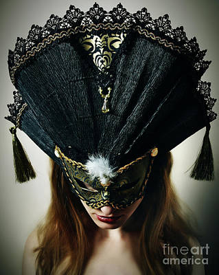Photograph - Beautiful Midnight Eyes I Venetian Eye Mask by Dimitar Hristov