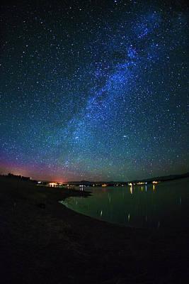 Angle Fishes Photograph - Beautiful Milkyway Over Lake Cascade In Idaho Usa by Vishwanath Bhat