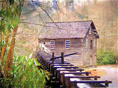 Photograph - Beautiful Mill Sketch 6 by Marty Koch