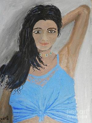 Painting - Beautiful Model by Pamela Meredith