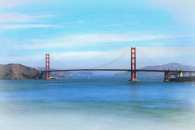 Photograph - Beautiful Morning At The Golden Gate by Bonnie Follett