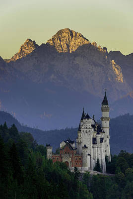 Photograph - Beautiful Morning View Of The Neuschwanstein Castle, Bavarian Alps, Bavaria, Germany. Typical Alpine Scenery. by Marek Kijevsky