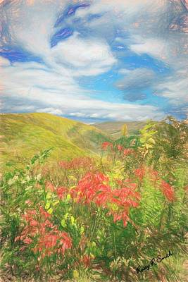 Digital Art - Beautiful Mountains In Central Pennsylvania. by Rusty R Smith