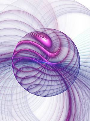 Beautiful Movements Fractal Art Art Print