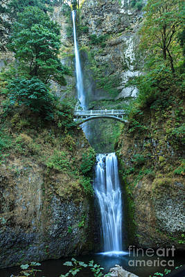 Photograph - Beautiful Multnomah Falls by Robert Bales