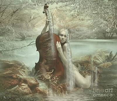 Digital Art - Beautiful Music 2 by Ali Oppy