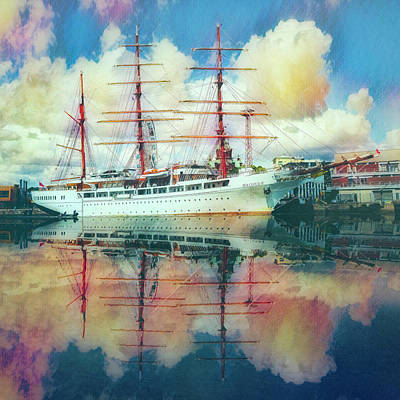 Photograph - Beautiful Nautical Morning At Sunrise Painting by Debra and Dave Vanderlaan
