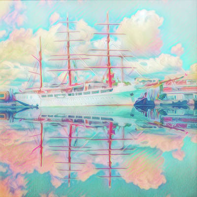 Photograph - Beautiful Nautical Morning Reflections by Debra and Dave Vanderlaan