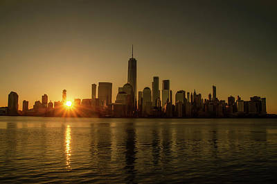 Photograph - Beautiful New York Sunrise by Bill Cannon
