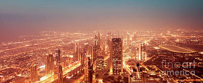 Photograph - Beautiful Night Dubai Cityscape by Anna Om