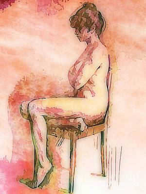 Beautiful Nude Woman Art Print by John Malone