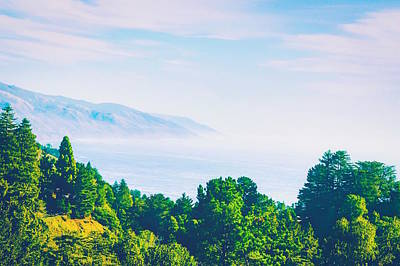 Open Impressionism California Desert - Beautiful ocean view with forest front view at Big Sur, California, USA by Tim LA