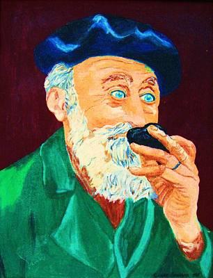 Beautiful Old Blue Eyes Art Print by Carole Spandau
