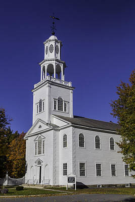 Bennington Photograph - Beautiful Old First Church by Garry Gay