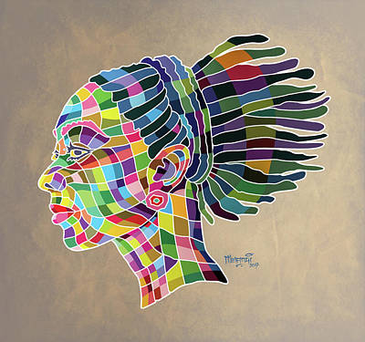 Painting - Beautiful One by Anthony Mwangi