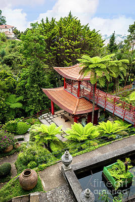 Photograph - Beautiful Pagoda In Tropical Garden by Brenda Kean