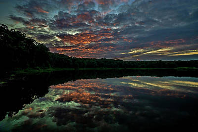 Photograph - Beautiful Painted Sky Reflected In Lake Water by Sven Brogren